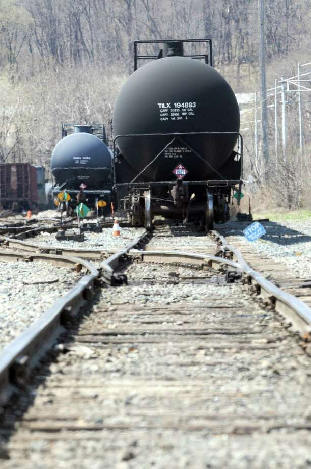 Tanker cars in The Port of Albany on Friday April 25, 2014 in Albany, N.Y. Canada is tightening tank car rules, with the U.S. to follow next week.  (Michael P. Farrell/Times Union) Photo: Michael P. Farrell / 00026637A