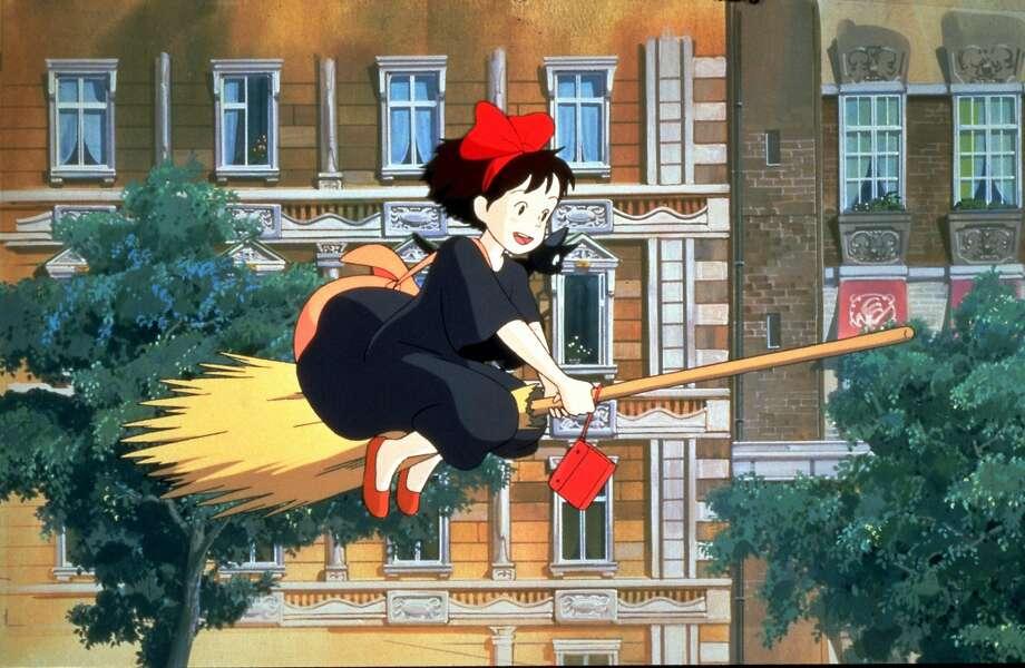 A scene from Hayao Miyazaki's Kiki's Delivery Service. Photo: 1989 Eiko Kadono - Nibariki - GN