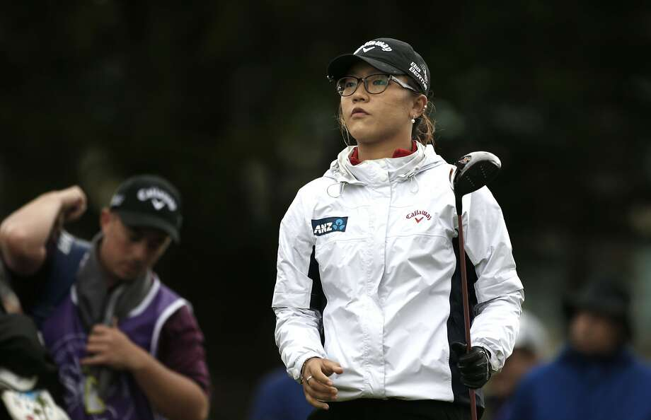 Lydia Ko walks off the 7th tee after her shot during round two of the Swinging Skirts LPGA classic at Lake Merced Golf Club in Daly City. Photo: Michael Macor, The Chronicle