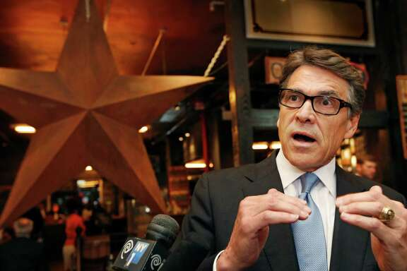 One of Texas Gov. Rick Perry's latest trips was to New York. Perry was trying to persuade companies to move their operations to Texas.