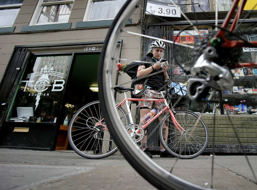 In S F Bike Messengers In Demand Again Sfgate