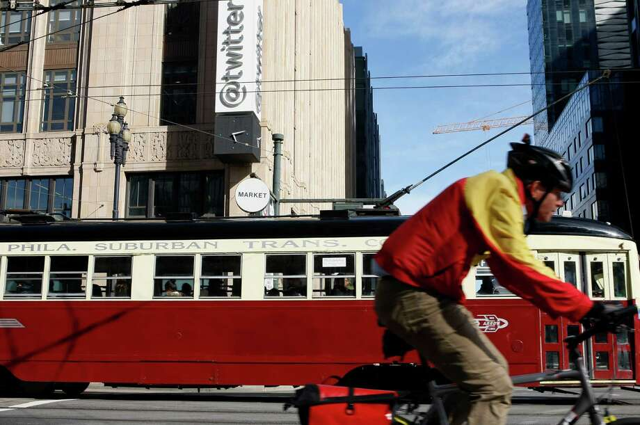 Twitter, with offices on Market Street in S.F., wants to release information about surveillance. Photo: Codi Mills / The Chronicle / ONLINE_YES