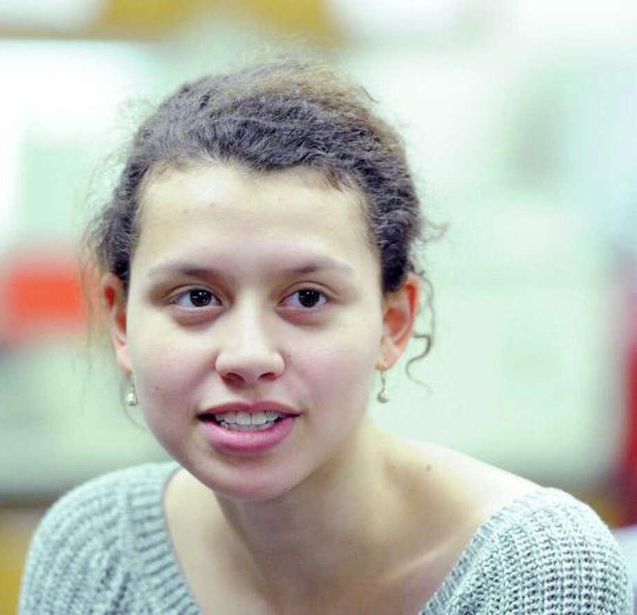 Greenwich High School senior Friederike Buck is a 2014 National Achievement Scholarship winner. Photo: Bob Luckey / Greenwich Time