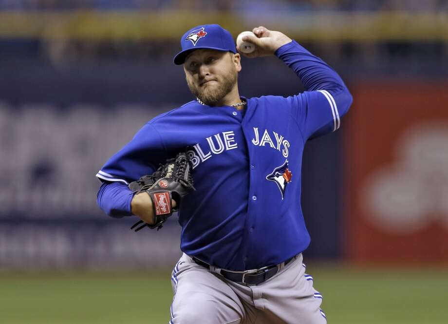 Mark Buehrle, Toronto Blue Jays, starting pitcher, American League. Photo: Chris O'Meara, Associated Press