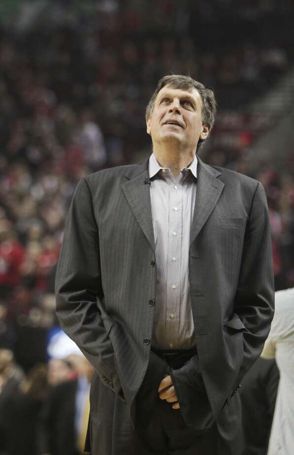Houston coach Kevin McHale watches during the first quarter of Game 3. Photo: James Nielsen, Houston Chronicle