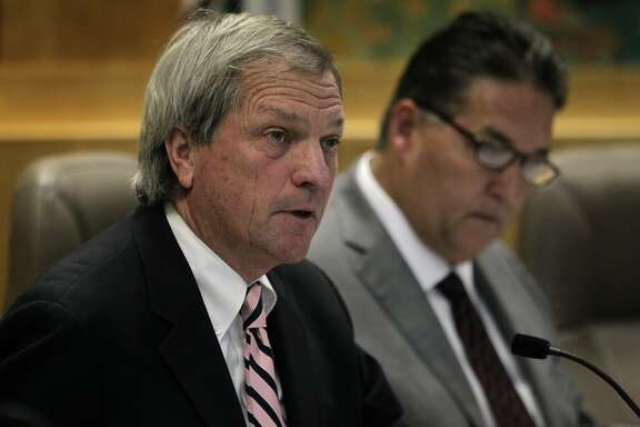 State Sen. Mark DeSaulnier, chairman of the Senate Committee on Transportation and Housing, convenes a hearing at the State Capitol to discuss the development and construction of the new eastern Bay Bridge span in Sacramento, Calif. on Friday, Jan. 24, 2014.