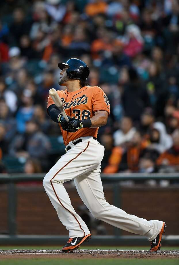 Michael Morse connects on a sacrifice fly in the first and hit the ball even farther, for a home run, his next time up. Photo: Thearon W. Henderson, Getty Images