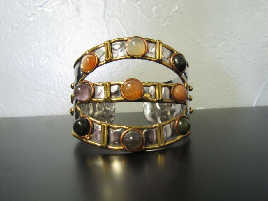 Anju handcrafted cuff bracelet $32. Katwalk Fashions, Beaumont Photo: Cat5