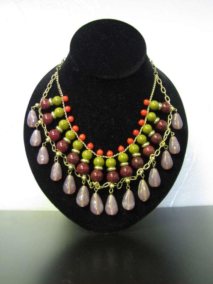 Multicolor beaded necklace, $21. Katwalk Fashions, Beaumont Photo: Cat5