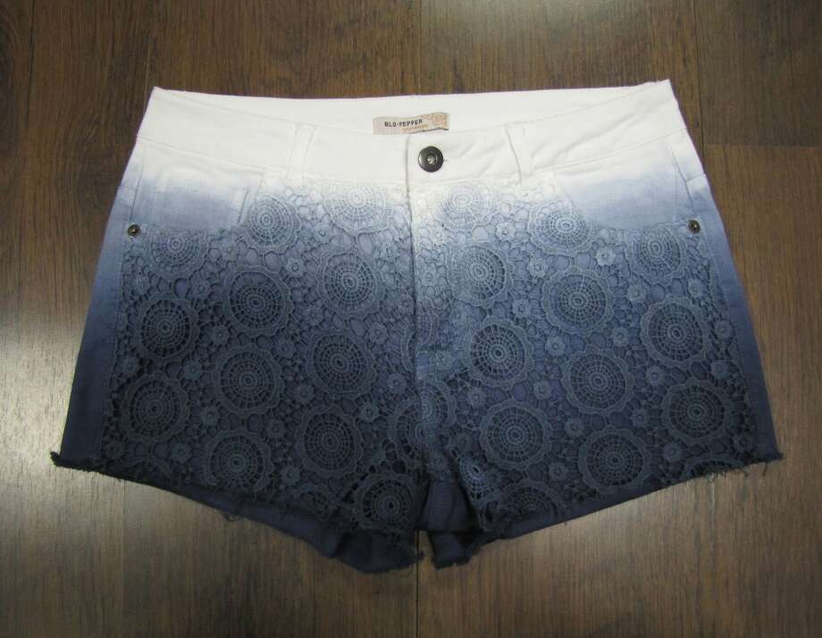 Ombre crochet shorts, $48. Katwalk Fashions, Beaumont Photo: Cat5