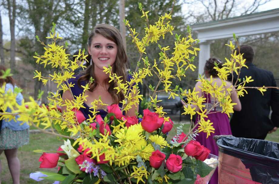 Shannan McDevitt at a preprom party at Mead Park before the New Canaan High School junior prom, which was held at the Italian Center in Stamford, Connecticut, on Friday, April 25, 2014. Photo: Jeanna Petersen Shepard, Freelance Photo / New Canaan News freelance