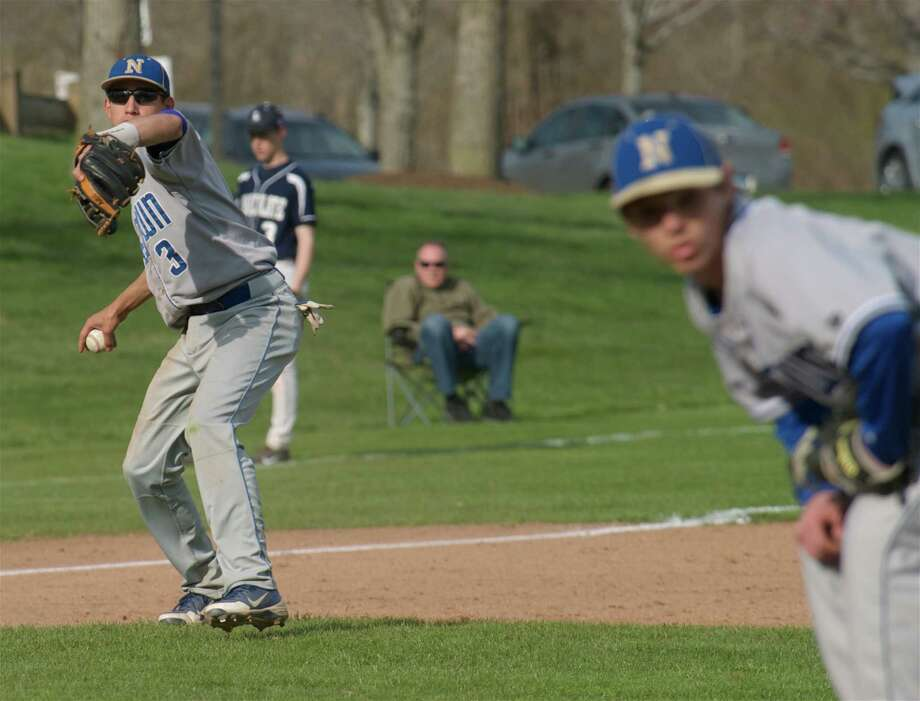 SWC boys baseball game, Newtown High School at Immaculate High School, in Danbury, Conn, on Friday, April 25, 2014. Photo: H John Voorhees III / The News-Times Freelance