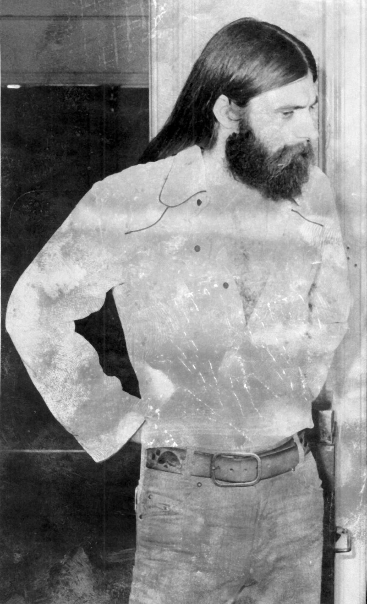 """Richard C. Dexter, shown here, was arrested in 1974 for showing """"Deep Throat""""at the now-demolished Fiesta Theater at the 200 block on West Houston Street. Hewas charged with possession of a criminal instrument (movie projector) because the movie raised concerns of obscenity."""