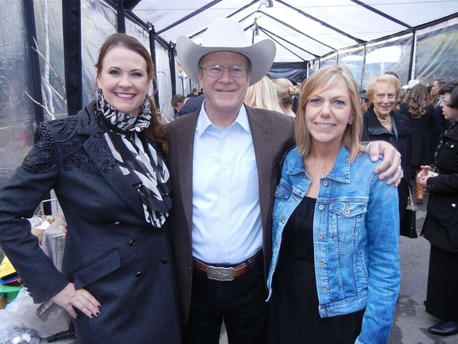 SF Zoo Director Tanya Peterson (left) with ZooFest honorees Hearst Corp. VP Steve Hearst and his wife, Barbara Hearst.