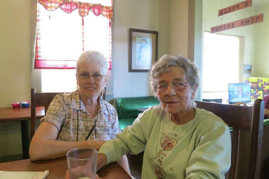Nancy Lee four years ago became owner once again of Nancy's Coffee Shop, but leaves running the Marathon community gathering place to Francene Taylor, left. Photo: Joe Holley / Houston Chronicle