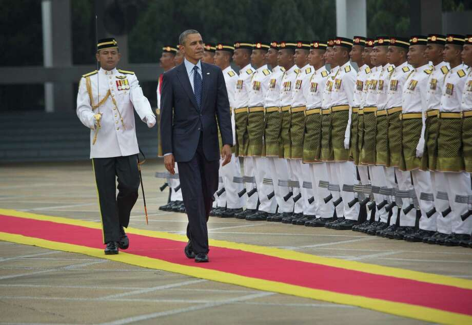 President Barack Obama's visit to Malaysia, after stops in Japan and South Korea, is the first by a U.S. president since Lyndon B. Johnson. Photo: Stephen Crowley / New York Times / NYTNS