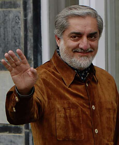 Opposition leader Abdullah Abdullah won 45 percent of the vote in the Afghan presidential election, but it is not enough to avoid a runoff with a former adviser to the president. Photo: Shah Marai / Getty Images / AFP