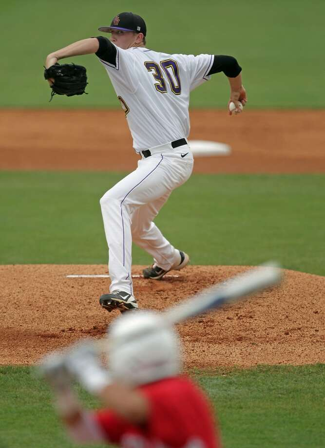 Jeff Hoffman, RHP  Height/weight: 6-4, 192  School: East Carolina UniversityPros: With a 97-mph fastball, the 6-4 righthander rose up many draft boards after an impressive showing in the Cape Cod League last summer. Electric stuff and athletic with a plus curve and solid changeup.Cons: Until a couple of dominant starts in April, he had been unable to consistently duplicate his Cape Cod dominance in college. Photo: James Nielsen, Houston Chronicle