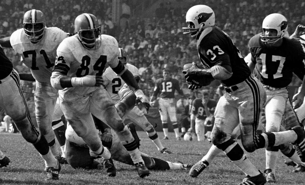 DE Marvin Upshaw (84), a former star at Trinity, was chosen with the No. 21 pick by Cleveland in 1968. He is the only player from a San Antonio university picked in the first round.