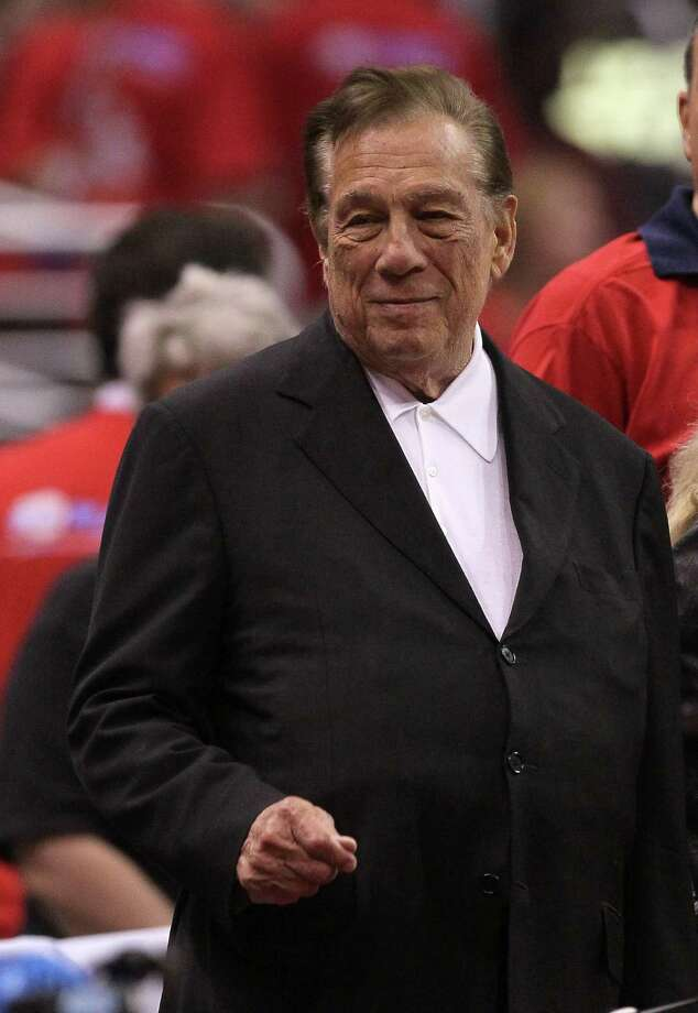 FILE - APRIL 26, 2014: It was reported that Los Angeles Clippers owner Donald Sterling is being investigated by the National Basketball Association for making racist remarks to his girlfriend  April 26, 2014. LOS ANGELES, CA - MAY 05:   Los Angeles Clippers owner Donald Sterling stands on the sidelines before the game with the Memphis Grizzlies in Game Three of the Western Conference Quarterfinals in the 2012 NBA Playoffs on May 5, 2011 at Staples Center in Los Angeles, California. The Clippers won 87-86 to take a two games to one lead in the series.  NOTE TO USER: User expressly acknowledges and agrees that, by downloading and or using this photograph, User is consenting to the terms and conditions of the Getty Images License Agreement.  (Photo by Stephen Dunn/Getty Images) Photo: Stephen Dunn, Staff / 2012 Getty Images