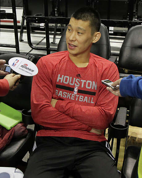 Rockets guard Jeremy Lin reflects on his role in Troy Daniels' heroics Friday night that helped cut the Trail Blazers' lead in the first-round series. Photo: James Nielsen, Staff / © 2014  Houston Chronicle