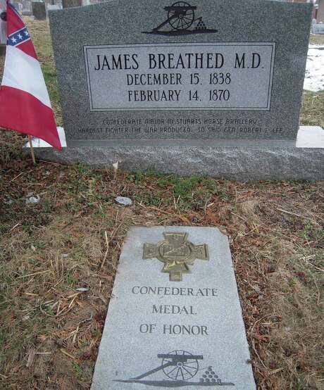 James Breathed, a major in the 1st Virginia Cavalry, was the 50th recipient of the Confederate Medal of Honor. Photo: David Dishneau / Associated Press / Sons of Confederate Veterans to