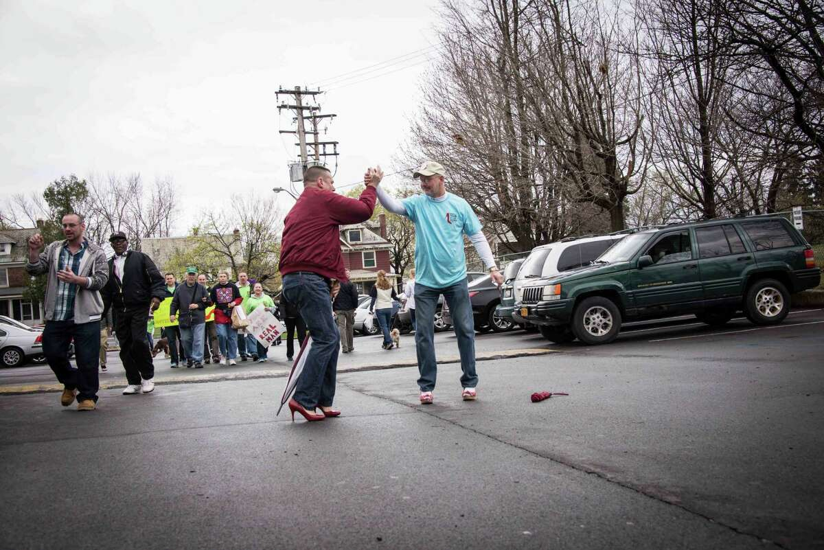 Were you Seen walking with hundreds of men in high heels at the 7th Annual Walk A Mile in Her Shoes benefit for Samaritan Hospital's Sexual Assault & Crime Victims Assistance Program in Troy on Saturday, April 26, 2014?