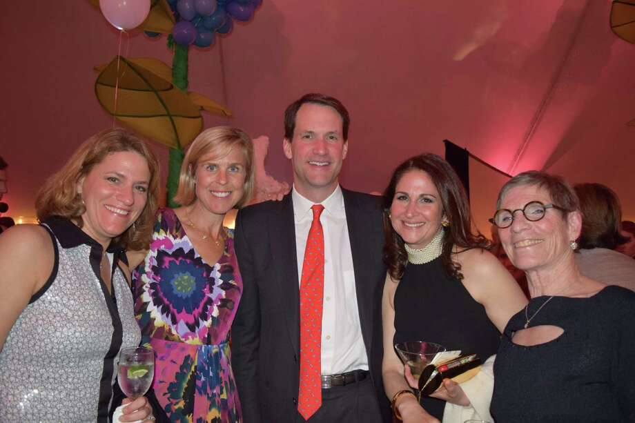 The Westport Arts Center held its annual gala on Saturday, April 26, 2014. Congressman Jim Himes, former First Selectman Gordon Joseloff and current First Selectman Jim Marpe joined hundreds of guests at the Alice in Wonderland-themed event that celebrated Ann Sheffer as the honorary Queen of the Arts. The event, WONDERland, was held at Cranbury Park's Gallaher Mansion in Norwalk. Photo: Todd Tracy / Hearst Connecticut Media Group