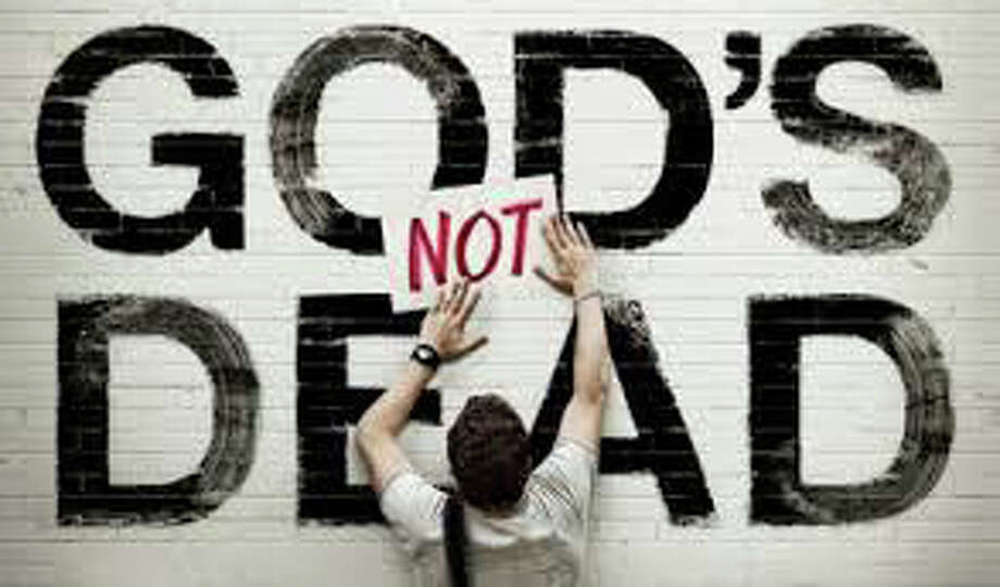 """""""God's Not Dead""""(2014)Total earnings: $62,617,540Starring: Dean Cain, Kevin Sorbo and Shane HarperPlot: An atheist professor at a Christian college demands that his students sign a form that says """"God is dead"""" to pass the class. One student refuses, and is required to debate the issue with the professor. The classmates will then decide who wins. Photo: Contributed Photo / Westport News"""