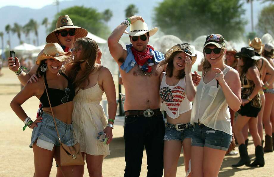 Music fans are seen during day 1 of 2014 Stagecoach: California's Country Music Festival at the Empire Polo Club on April 25, 2014 in Indio, California. Photo: Mark Davis, Getty Images / 2014 Getty Images