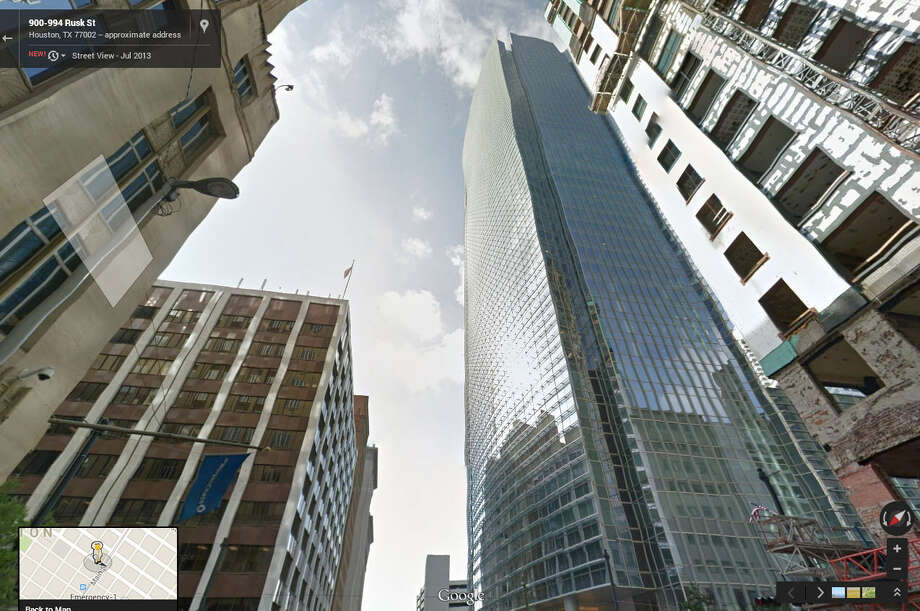 In 2014: It's the site of the shiny new BG Group Tower. Photo: Google Maps