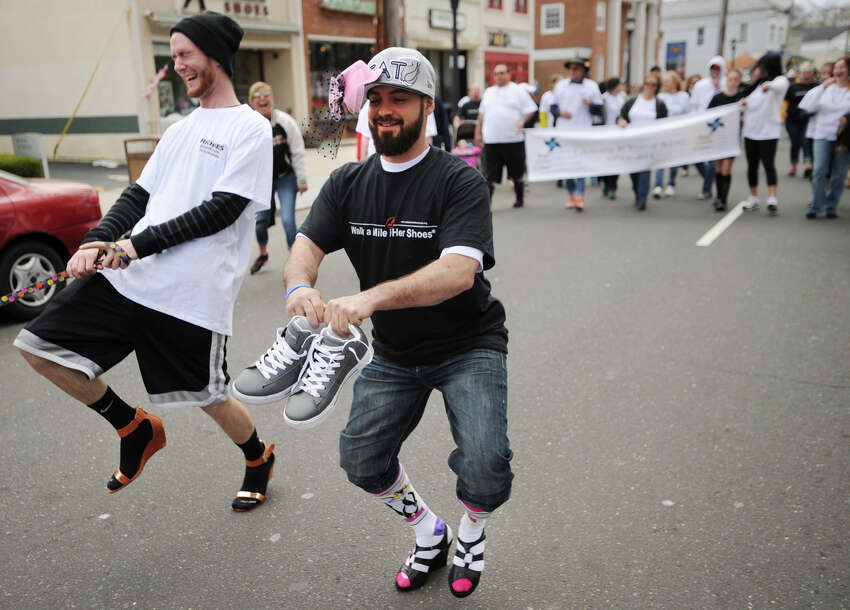The annual In Your Shoes walk in downtown Milford, Conn. on Sunday, April 27, 2014.