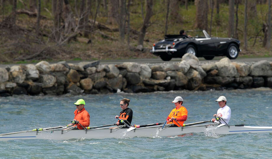 Scenes from the Alumni Sprints Regatta on Greenwich Cove in Greenwich, Conn., on Sunday, April 27, 2014. Photo: Jason Rearick / Stamford Advocate