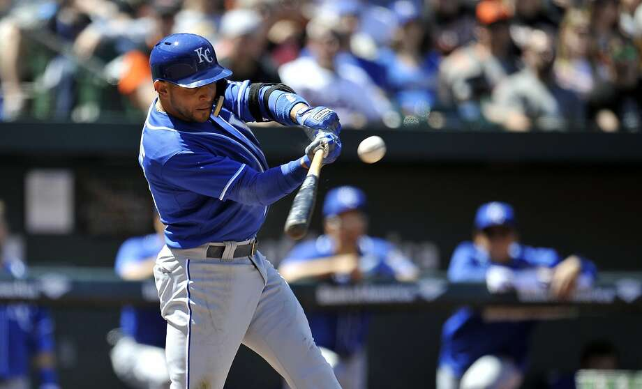 Omar Infante tied a career high with six RBIs as the Royals beat the Orioles. Photo: Joy R. Absalon, Reuters