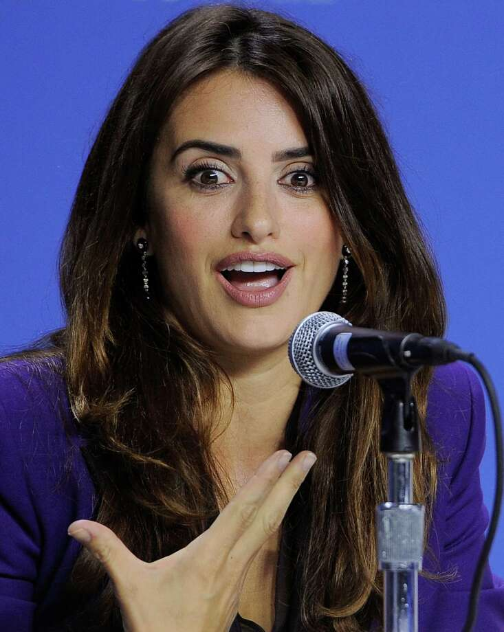 "Penelope Cruz, a cast member in the film ""Twice Born,"" makes a point during a news conference for the film at the 2012 Toronto Film Festival, Thursday, Sept. 13, 2012, in Toronto. (Photo by Chris Pizzello/Invision/AP) Photo: Chris Pizzello / Invision"