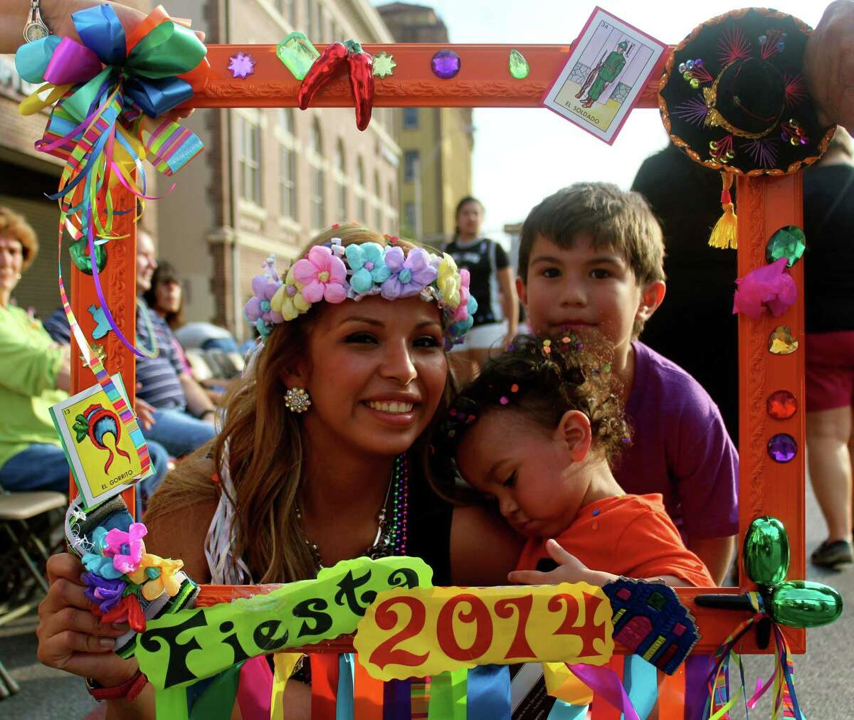 A look a the people who hit the streets for the 2014 Fiesta Flambeau Parade.