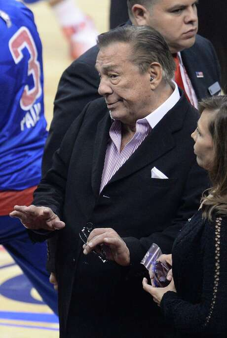 Clippers owner Donald Sterling, allegedly caught on tape making racist remarks, was not at Game 4. Photo: Robyn Beck / Getty Images / AFP