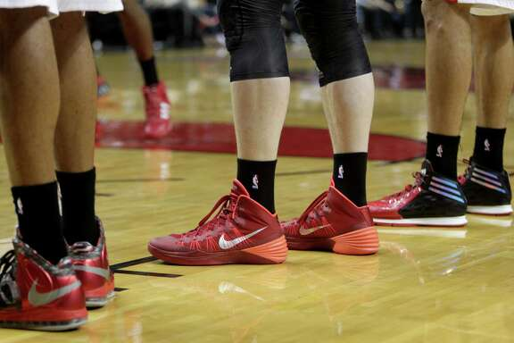 The Blazers and Rockets wore black socks during Game 4 of their playoff series as a show of solidarity with the Los Angeles Clippers, whose owner, Donald Sterling, is under fire for allegedly making racist comments.