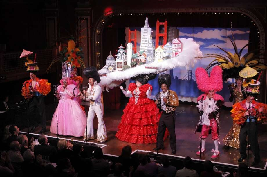 See the ever-changing musical Beach Blanket Babylon. Photo: Carlos Avila Gonzalez, The Chronicle