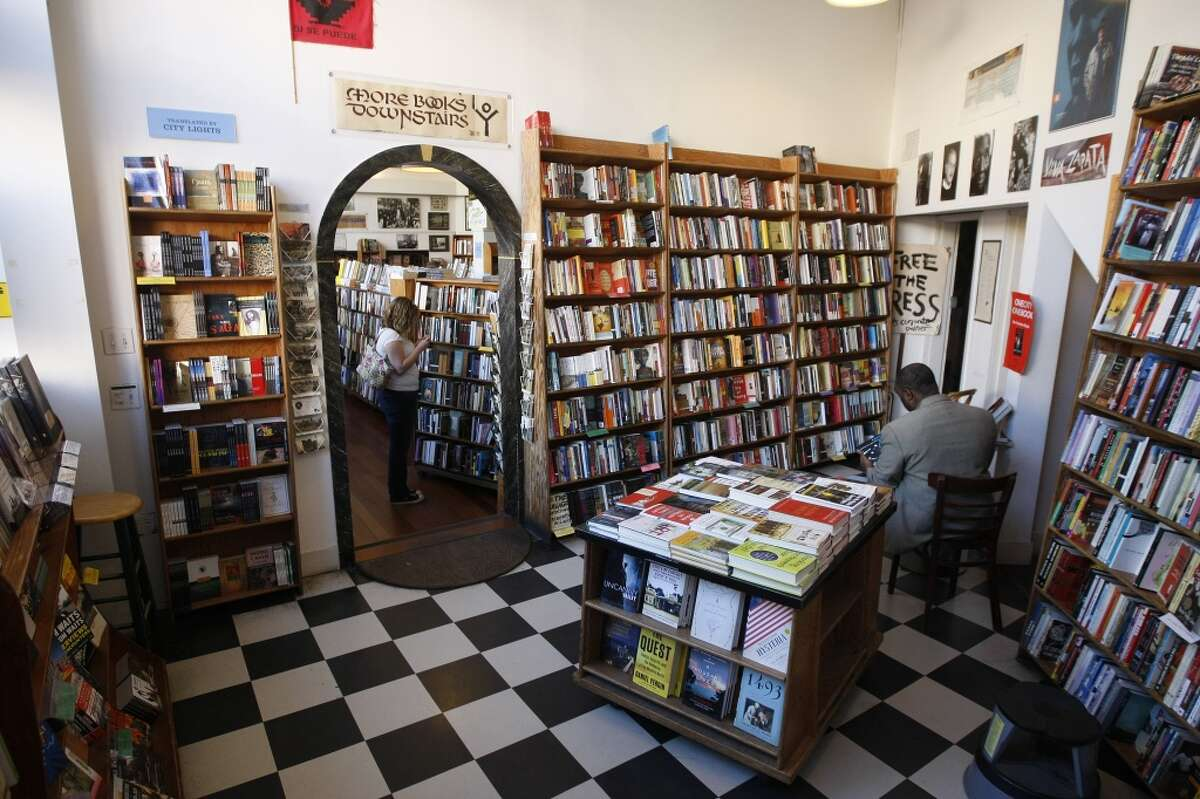 Spend a day getting lost in City Lights Bookstore.