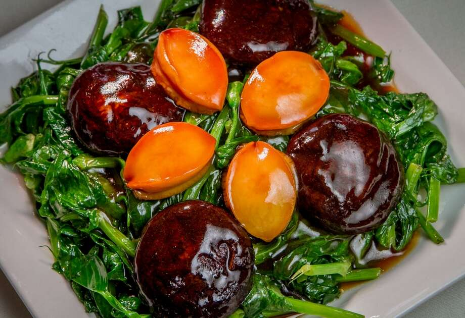 Whole Abalone with Pra Shoots at Hong Kong Lounge 2 in San Francisco. Photo: John Storey, Special To The Chronicle