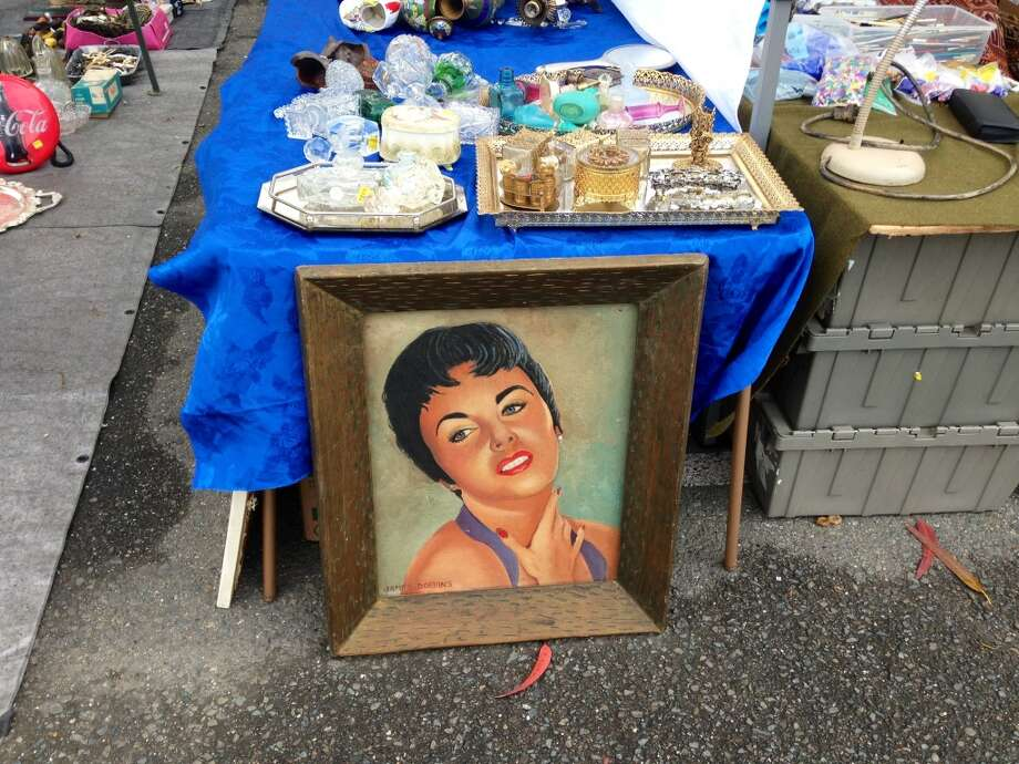 This $160 painted reminded me of the rejected broad from The Birds.