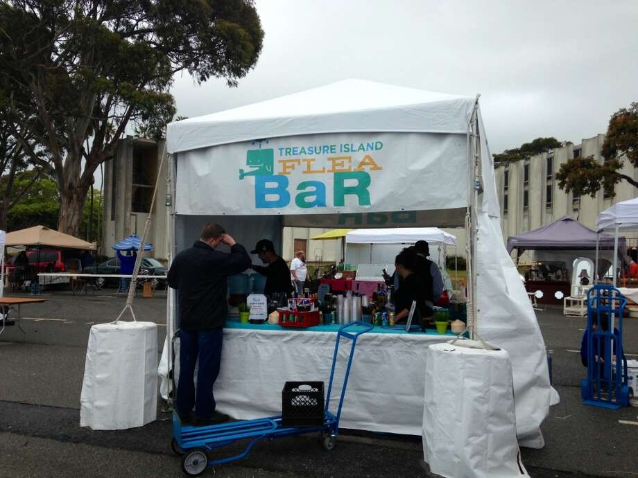 The Treasure Island Flea Market has several bars.