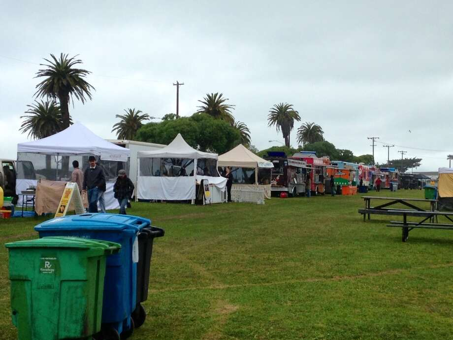 It's not an event in Bay Area without food trucks.