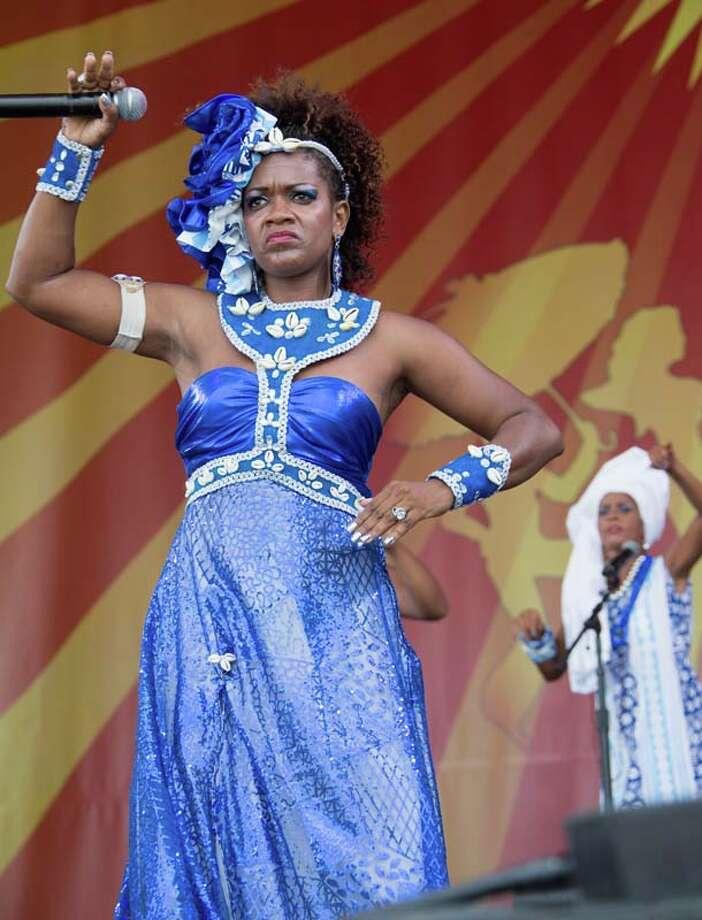 Afoxé Omô Nilê Ogunjá of Pernambuco-Brazil Photo: Douglas Mason, Getty / 2014 Douglas Mason