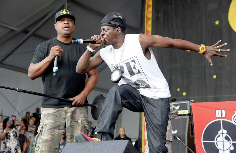 Chuck D and Flavor Flav of Public Enemy(Photo by Jeff Kravitz/FilmMagic) Photo: Jeff Kravitz, Getty / 2014 Jeff Kravitz