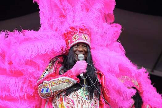 Big Chief Monk Boudreaux of the Golden Eagles Mardi Gras Indians.  (Photo by Erika Goldring/WireImage) Photo: Erika Goldring, Getty / 2014 Erika Goldring