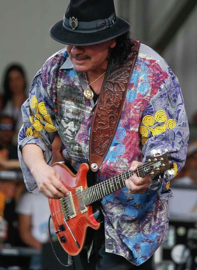 Music legend Carlos Santana  (AP Photo/Doug Parker) Photo: Doug Parker, Getty / FR 170928AP
