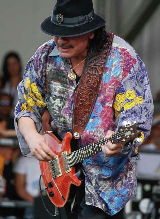 Music legend Carlos Santana(AP Photo/Doug Parker) Photo: Doug Parker, Getty / FR 170928AP