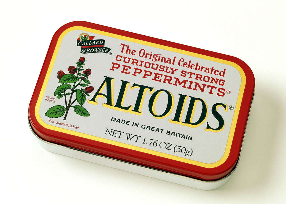 Altoids - gelatin (animal collagen) (source) Photo: AP / KRAFT